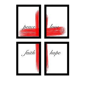 Kit Paz Amor Esperança e Fé