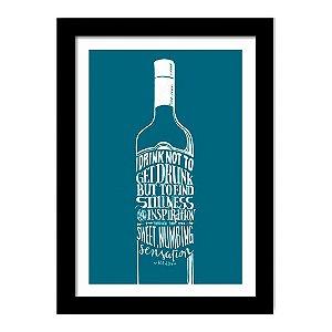 Quadro Decorativo para Sala de Estar em MDF Frases - I drink Not To