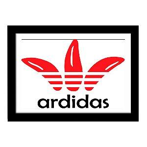Quadro Decorativo para Quarto em MDF Adidas Logo