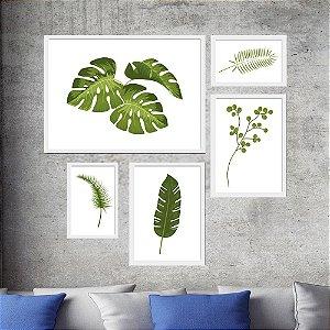 Kit Folhas Verdes para Sala de Estar