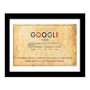 Quadro Decorativo Vintage para Escritório em MDF Google