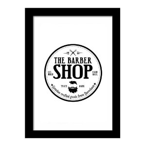 Quadro Decorativo Vintage para Barbearia em MDF The Barber Shop