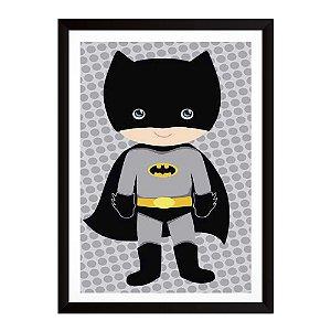 Quadro Decorativo para Quarto em MDF Infantil - Batman Baby