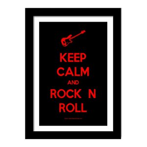 Quadro Decorativo para Sala em MDF Frases - Keep Calm And Rock'N Roll