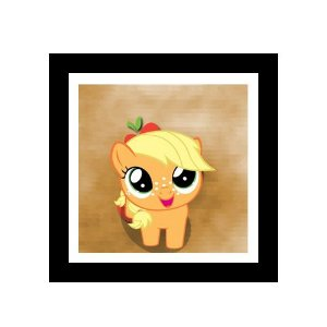Quadro Decorativo para Quarto Infantil Little Poney Apple Jack