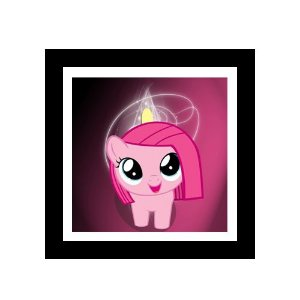 Quadro Decorativo para Quarto Infantil Little Poney Pink Pie