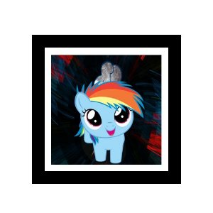 Quadro Decorativo para Quarto Infantil Little Poney Rainbow Dash