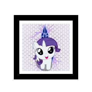 Quadro Decorativo para Quarto Infantil Little Poney Rarity