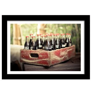 Quadro Decorativo Vintage para Cozinha em MDF Coca-Cola Baú