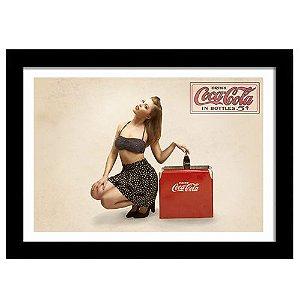 Quadro Decorativo Vintage para Cozinha em MDF Drink Coca-Cola