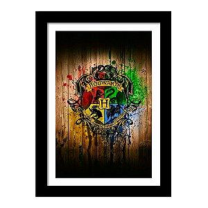 Quadro Decorativo em MDF Harry Potter Hogwarts - Filme