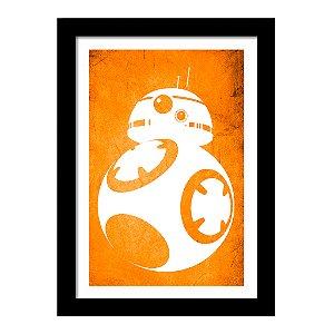Quadro Decorativo em MDF Star Wars Bb8 - Filme