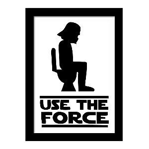 Quadro Decorativo em MDF Star War Use The Force - Filme