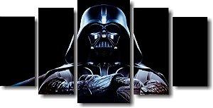 Tela Canvas para Sala 5 Peças Star Wars Darth Vader - Filmes