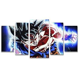 Tela Canvas para Sala e Quarto 5 Peças Goku Instinto Superior Dragon Ball Z - Games