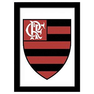Quadro Decorativo para Quarto e Sala em MDF Escudo Flamengo