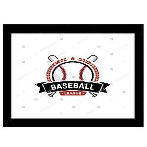 Quadro Decorativo para Sala de Estar em MDF Baseball Logo