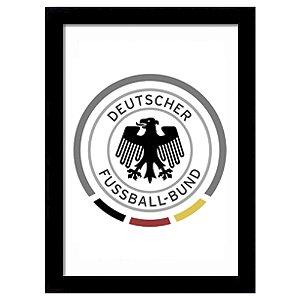 Quadro Decorativo para Sala de Estar em MDF Escudo Alemanha