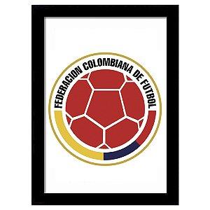 Quadro Decorativo para Sala de Estar em MDF Escudo Colombia