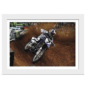 Quadro Decorativo para Sala de Estar em MDF Motocross Curva