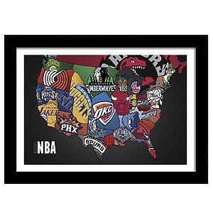 Quadro Decorativo para Sala de Estar em MDF NBA Times