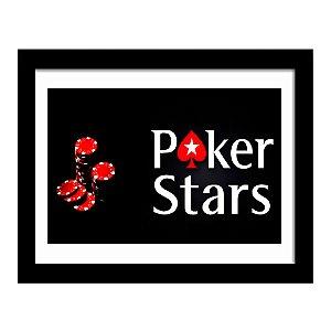 Quadro Decorativo para Sala de Estar em MDF Poker Stars