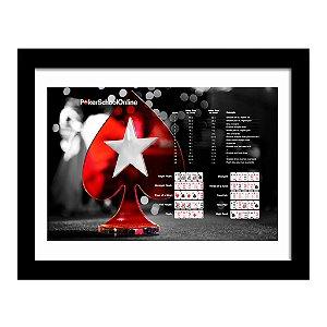 Quadro Decorativo para Sala em em MDF Poker School Online
