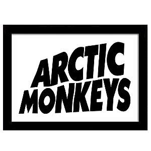 Quadro Decorativo para Sala em MDF Indie Rock - Banda Arctic Monkeys