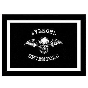Quadro Decorativo para Sala em MDF Heavy Metal - Banda Avenged Senfold