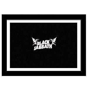 Quadro Decorativo para Sala em MDF Heavy Metal - Black Sabbath