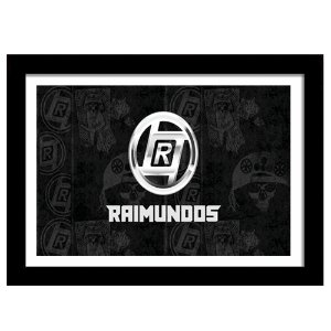 Quadro Decorativo para Sala em MDF Punk Rock - Banda Raimundos