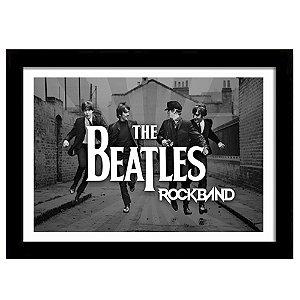 Quadro Decorativo para Sala em MDF The Beatles Rock Band