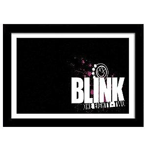 Quadro Decorativo para Sala em MDF Pop Punk - Blink: One Eighty Two