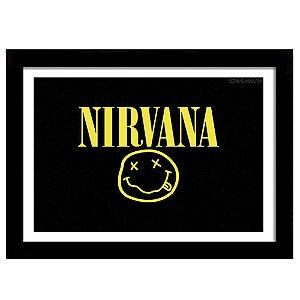 Quadro Decorativo para Sala em MDF Rock Alternativo - Nirvana