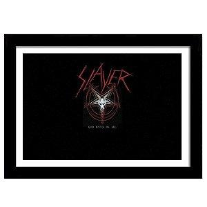 Quadro Decorativo para Sala em MDF Trash Metal - Slayer