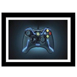 Quadro Decorativo para Quarto em MDF Controle Xbox Tron