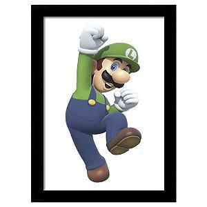 Quadro Decorativo para Quarto em MDF Super Mario Bros Luigi - Nitendo