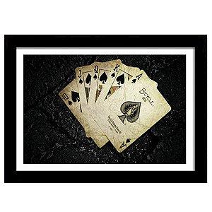 Quadro Decorativo para Quarto em MDF Poker Cartas