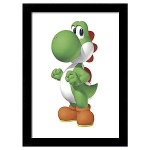 Quadro Decorativo para Quarto em MDF Super Mario Bros - Yoshi