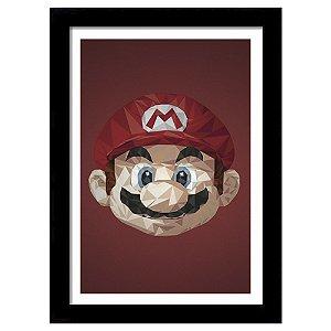 Quadro Decorativo para Quarto em MDF Super Mario Triangular