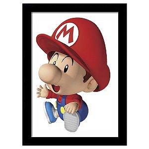 Quadro Decorativo para Quarto em MDF Super Mario Baby