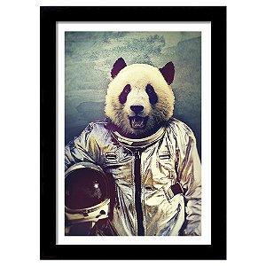 Quadro Decorativo para Sala em MDF Urso Piloto