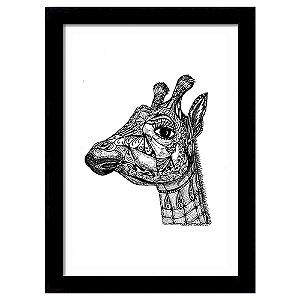 Quadro Decorativo para Sala em MDF Girafa Indiana