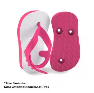 Tiras Baby 10 pares - Rosa chiclete