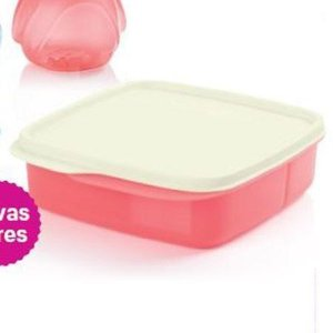 Tupperware Basic line Com Divisórias 550ml Rosa