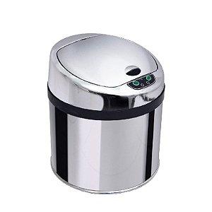 Lixeira Automática Bionox 6Lts em Inox - Biovis