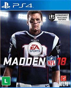 Jogo Madden NFL 18 - PS4  (Setembro)