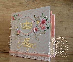 Caderno de Maternidade Modelo Flores e Coroa