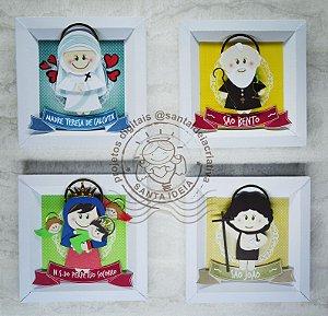 KIT 10 - São João, Nossa Senhora Perpétuo Socorro, Madre Teresa de Calcutá e São Bento