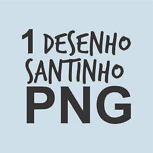 1 DESENHO AVULSO DE SANTINHO EM PNG